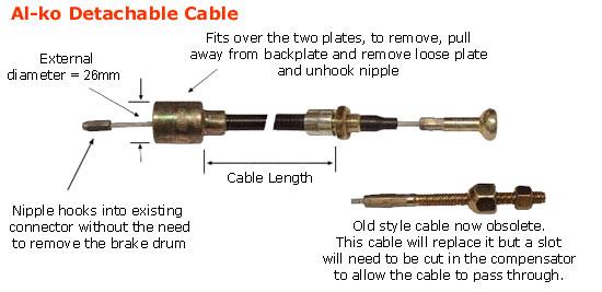 Al-ko Detachable Bowden Cable