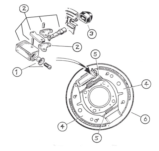 7 inch Standard Lockheed Brake Diagram
