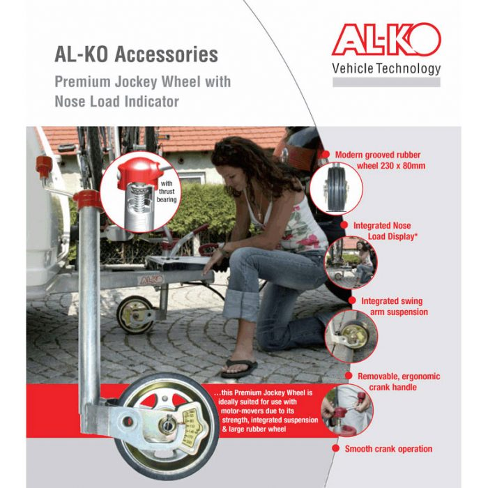 Al-ko jockey wheel with nose load indicator