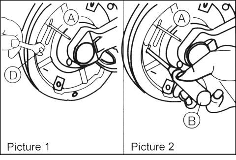 Wheel brake adjustment