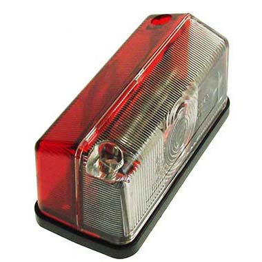 Red & Clear Side Marker Light