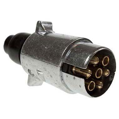 12N Trailer & Caravan Lighting Alloy Plug