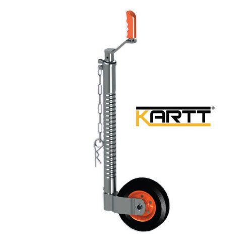 Kartt Orange Ribbed 48mm jockey wheel