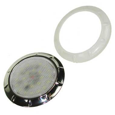 12v White/Chrome LED recessed 70mm