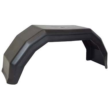 Single plastic mudguard 8 inch