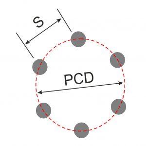 Diagram Showing PCD of 6 stud wheel