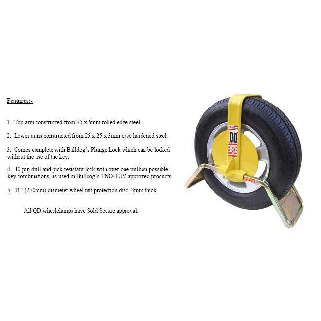 Bulldog QD13 Wheel Clamp