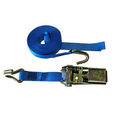 3 Metre Long Load Securing Ratchet Strap with hooks