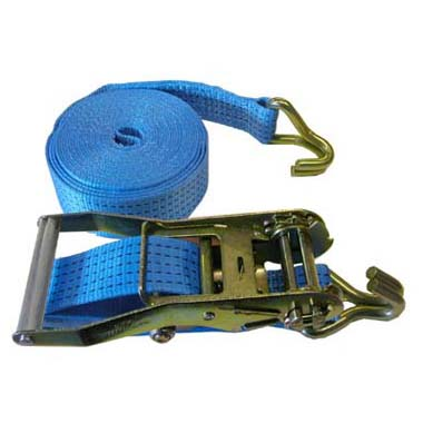 4 Metre Long 50mm wide Load Securing Ratchet Strap with hooks