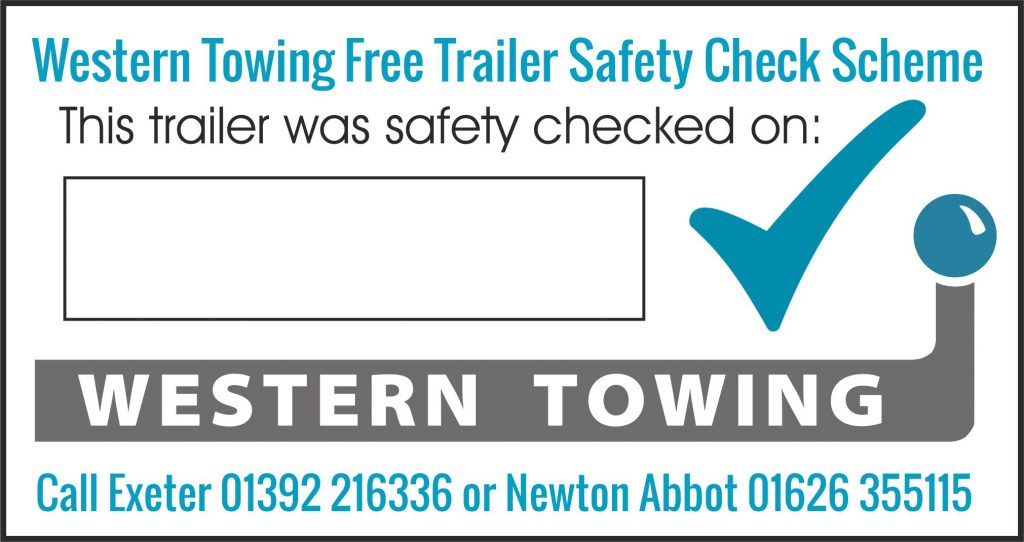 Western Towing Trailer Safety Check Sticker