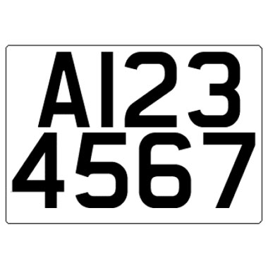 Trailer Registration Number Plate