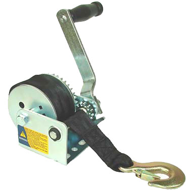 Trailer Winch with strap, Model 850