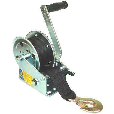 Trailer Winch with strap, Model 1200