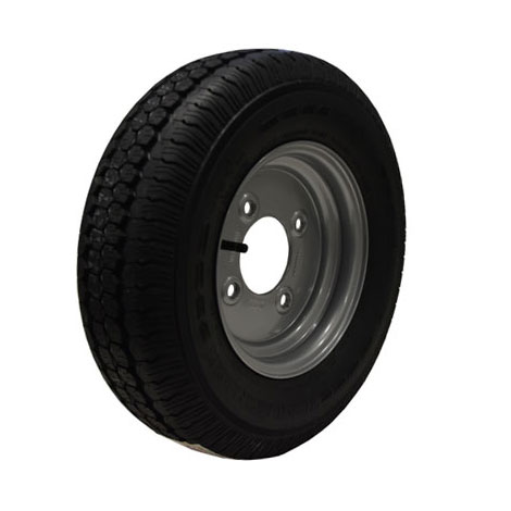 "Wheel Rim & Tyre 145R10 4 stud 5.5"" PCD No Offset"