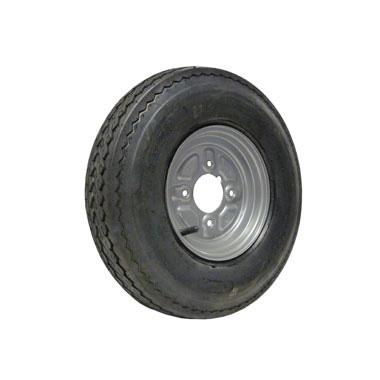 "Wheel &Tyre 400/480x8 4ply 4 stud 4"" PCD"