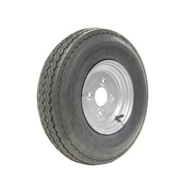 Wheel & Tyre 400/480x8 4 stud 100mm PCD