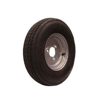 3 Stud Trailer Wheel & Tyre 400/480x8 3 stud 88.5mm PCD