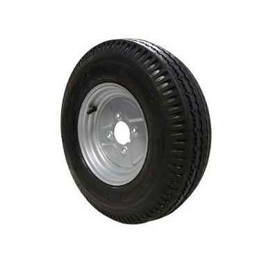 "Wheel Rim & Tyre 500x10 4ply 4 stud 4"" PCD"