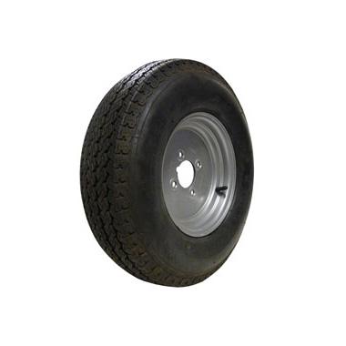 "Wheel Rim & Tyre 500x10 8ply 4 stud 4"" PCD"