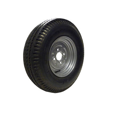 Wheel Rim & Tyre 500x10 6ply tyre 4 stud 100mm PCD