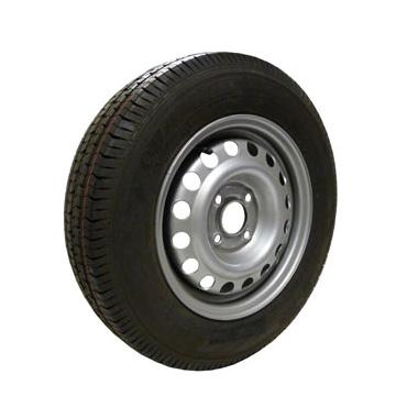 Wheel Rim & Tyre 155/80R13 4Ply 4 stud 100mm PCD 4.0J 30mm offset