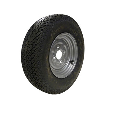 Wheel Rim & Tyre 145R10 4ply 4 stud 100mm PCD No Offset