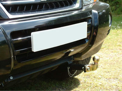 Front Push Bar fitted on a Mitsubishi